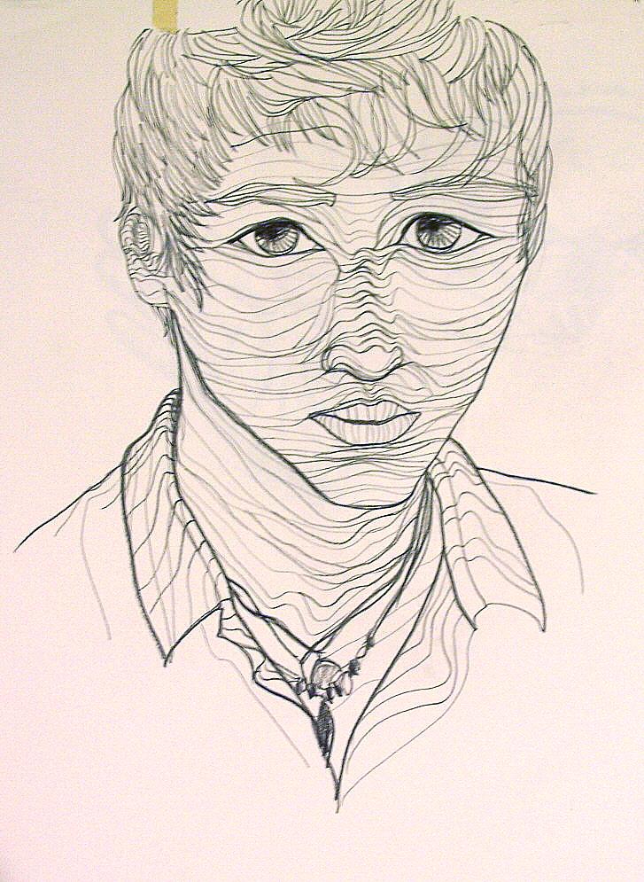Contour Drawing And Line Drawing : Cross contour portrait by lehauteamour on deviantart