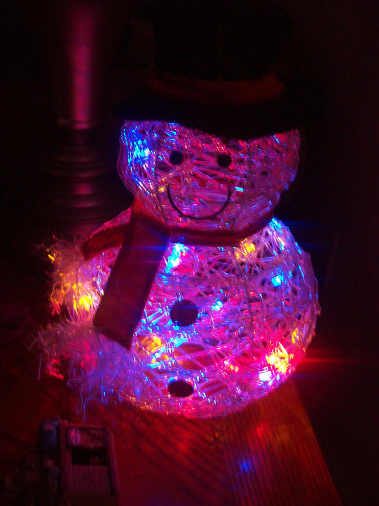 Fiberoptic snowman by cairopoetry on deviantart