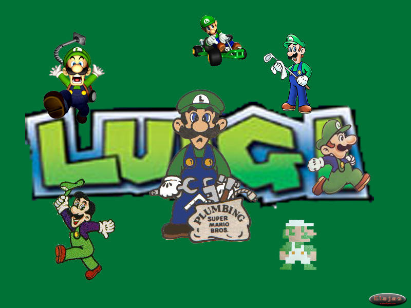 luigi wallpaper. Luigi Wallpaper by ~Elajas on