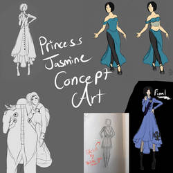 Princess Concept art collage