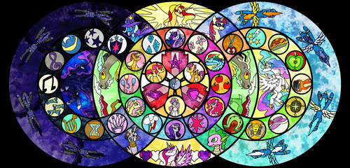 Stained Glass Cutie Mark Crusaders with Mane Cast
