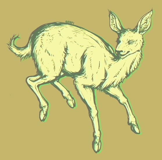 Yellow Deer - Bouncing by Serfiaso