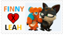 [Finny X Leah Fan] Stamp by NightmareBear87