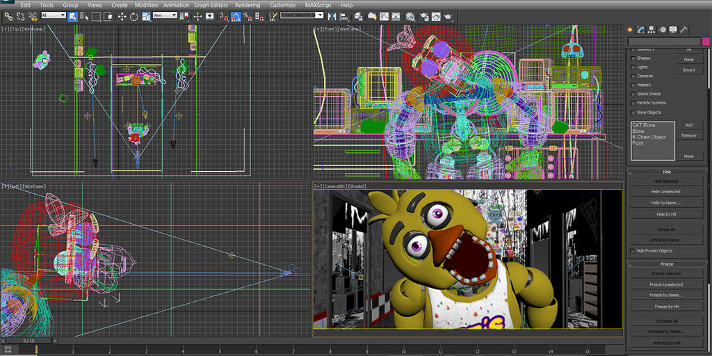 Fnaf 2nd anniversary chica s jumpscare by nightmarebear87 on