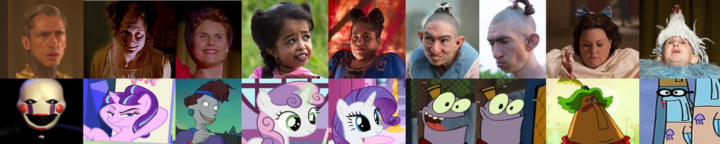 AMS: Freak Show Background Characters Recast Meme by NightmareBear87