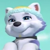 Paw Patrol Everest's Cute Face Emoticon Icon by NightmareBear87