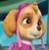 Paw Patrol Skye's Straight Face Emoticon Icon