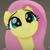 Fluttershy's Cute Face Emoticon Icon by NightmareBear87