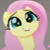Fluttershy's Cute Face Emoticon Icon 2 by NightmareBear87