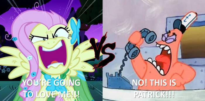 Fluttershy VS. Patrick Star Death Battle by NightmareBear87