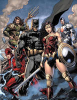 Justice League Empire Cover Textless by UNKNOWN by BatmanMoumen