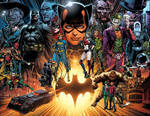 Detective Comics#1000 spread by Jason Fabok