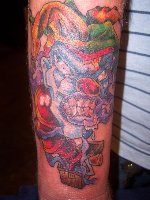 evil jack in the box tattoo by angiepip on deviantart. Black Bedroom Furniture Sets. Home Design Ideas