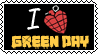 I love green day stamp by RanmaGirlSaotome