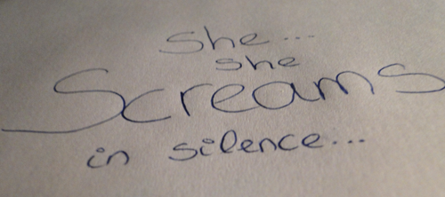 She screams in silence by RanmaGirlSaotome