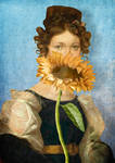 Girl with Sunflower 1