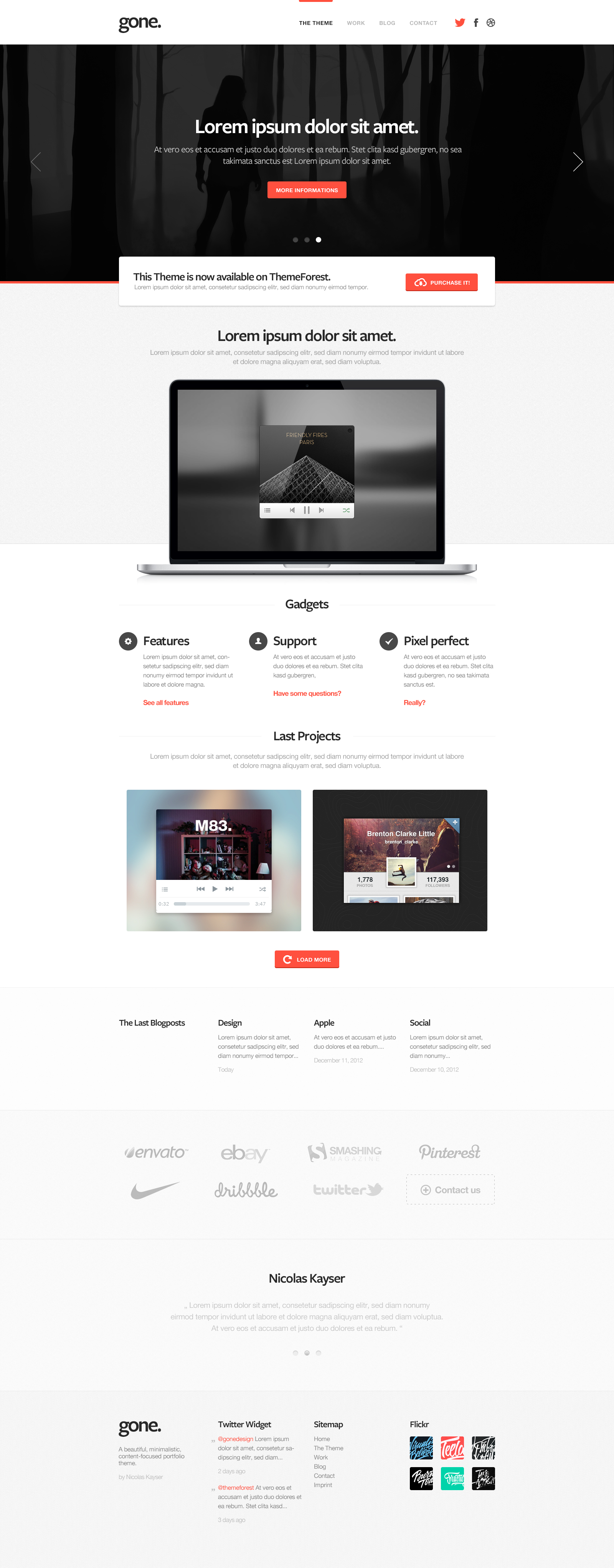 gone - new wordpress template by cPl92