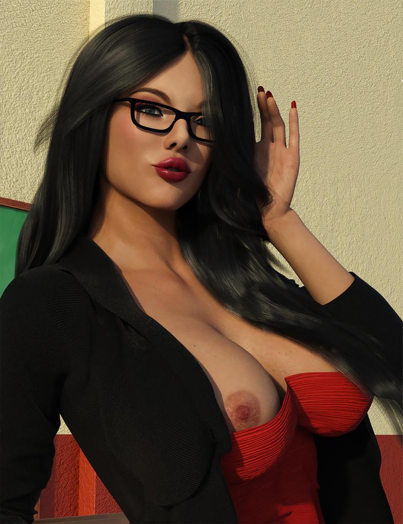 Portrait of Ms Pennington by datalossfs