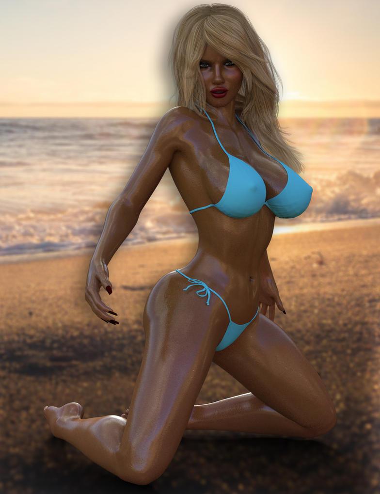 Mary-Beth On The Beach by datalossfs