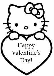 hello kitty valentines day coloring page by hello kitty hugs