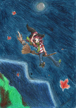 Witch who likes to fly