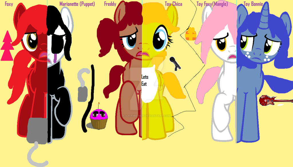 Fnaf What My Cutie Mark Is Telling Me By Ice Fire Mlp On Deviantart