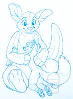 Sketch - Rickgriffin and Karishad by NeonSlushie