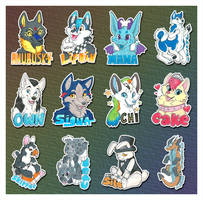 Anthrocon Takehome Badges by NeonSlushie