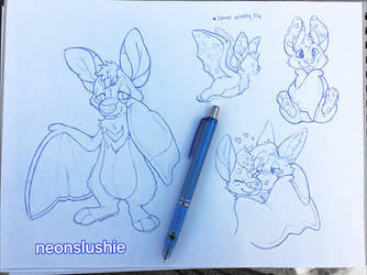 More Bat Sketches by NeonSlushie