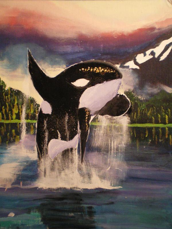 Leaping Orca by Mizuyasha