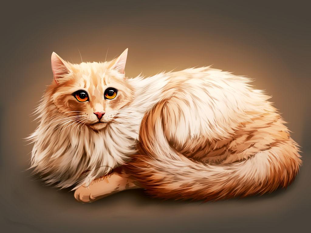 kitty cat painting by TemeroHimitaki