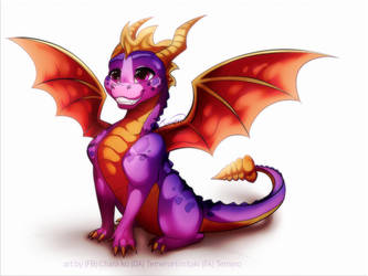 Spyro fanart by TemeroHimitaki