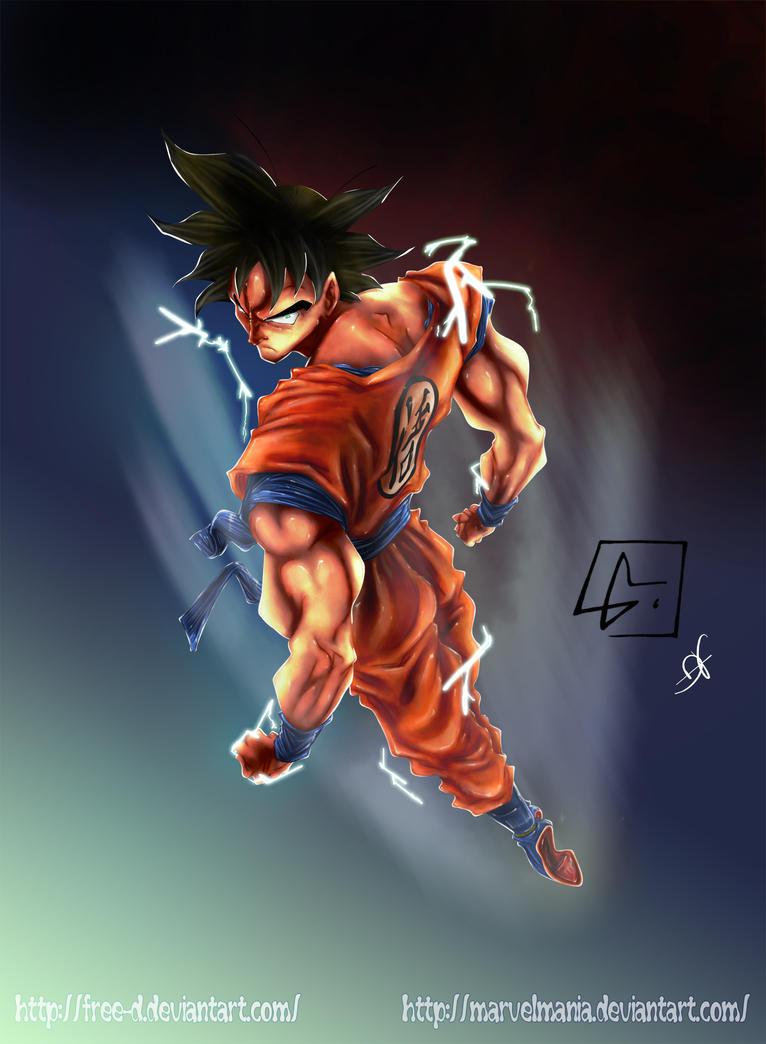 Son Goku - Birth of the super saiyan by Free-D