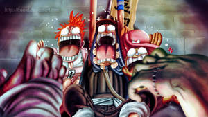 Usopp Nami and Chopper on the Thriller Bark Show by Free-D