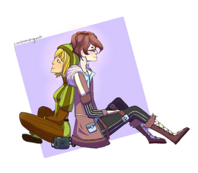 Amber and Inko | Request by contrastghost