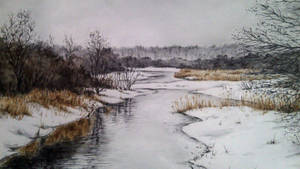 Cold River. One of the early works, 2015.