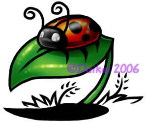 Ladybug on a Leaf by Tabery-kyou