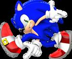 Adventure style Sonic render