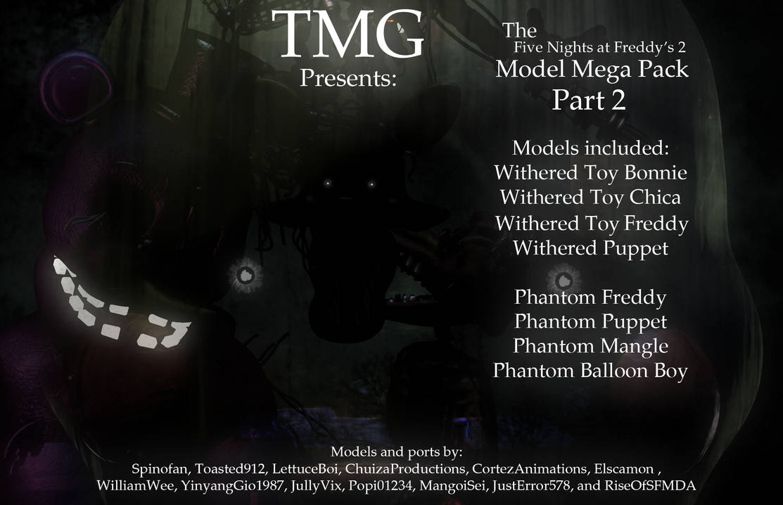 TMG FNaF 2 MEGAPACK Release Part 2! by toasted912