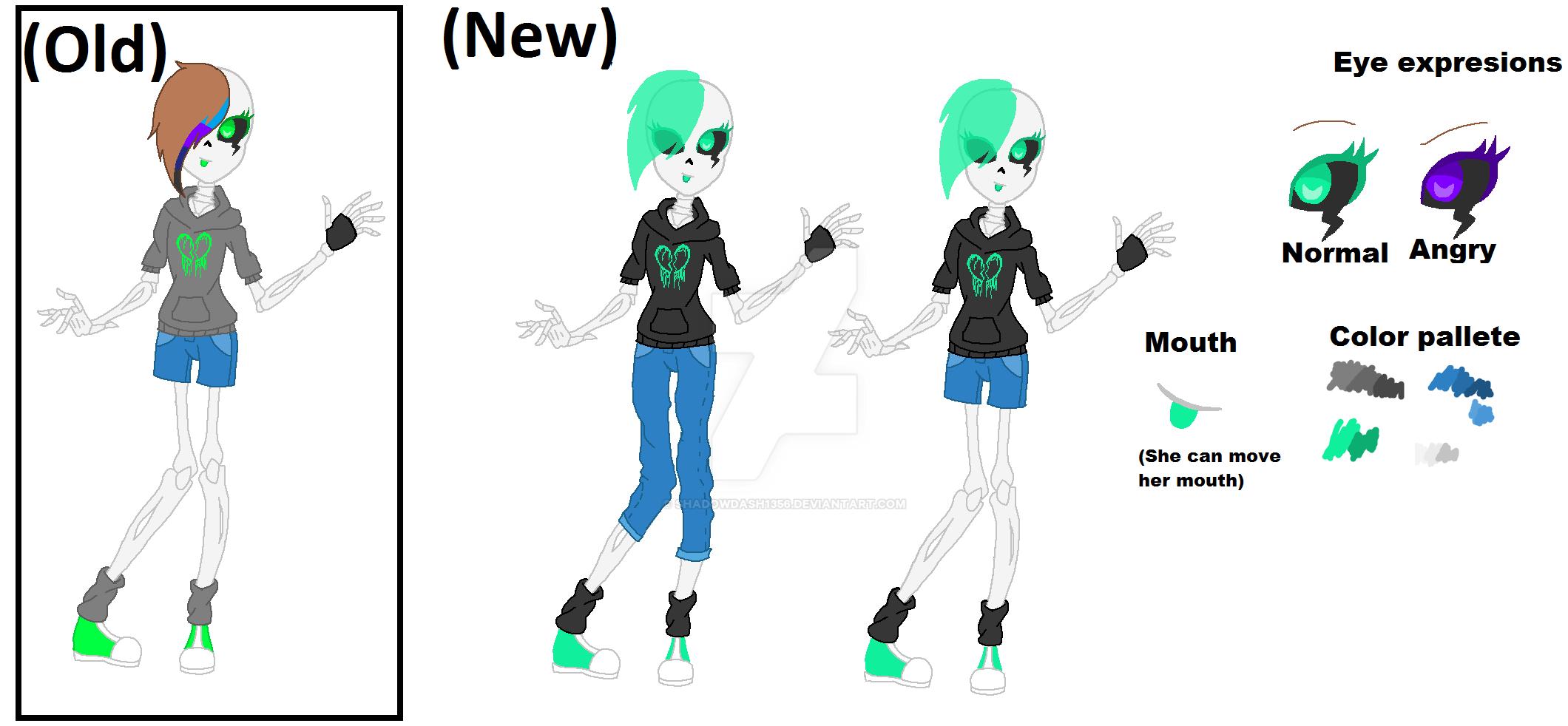 Undertale Oc Nova Old Vs New Design By Shadowdash1356 On