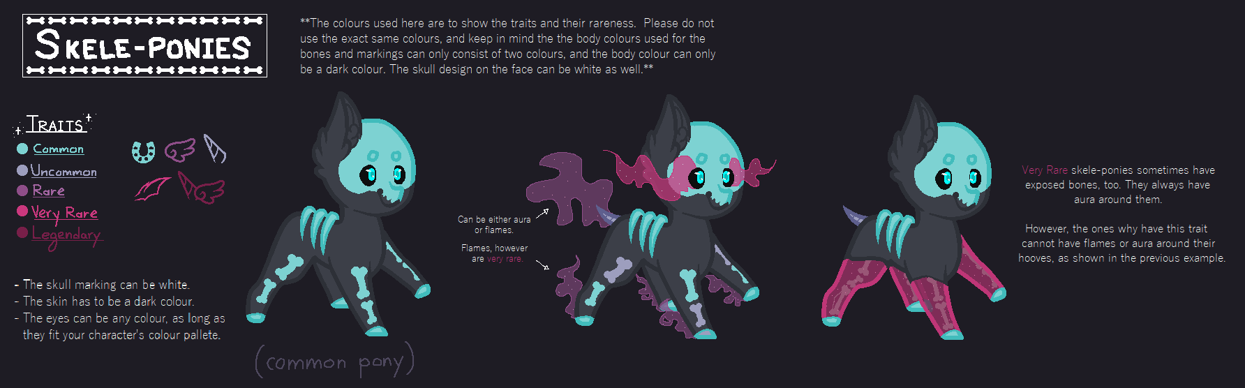Open Species // Skele-ponies - by ShadowDash1356 on DeviantArt