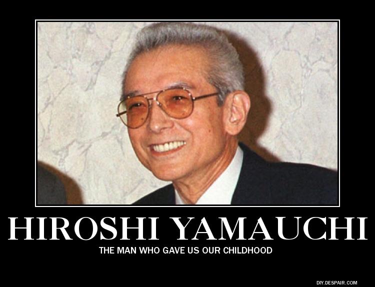 Demotivational Poster: Hiroshi Yamauchi by RockyToonz93