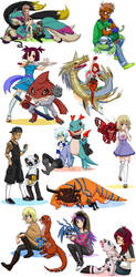 Digimon OCs 2 by glyfy