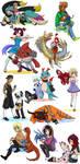 Digimon OCs 2 by glyfy