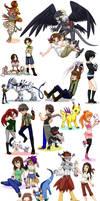 Digimon OCs 3 by glyfy