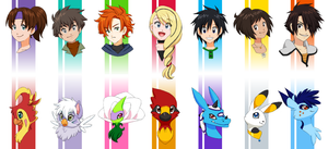 Digimon busts by glyfy
