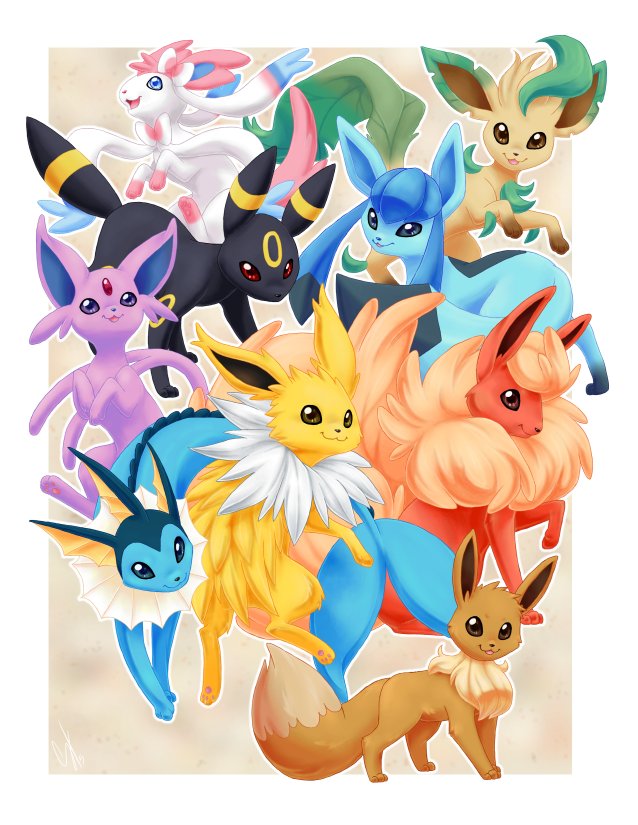Eeveelutions by glyfy