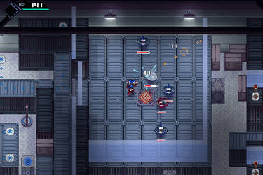 Battle in CrossCode