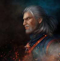 Geralt  The Witcher 3 by AlenaEkaterinburg