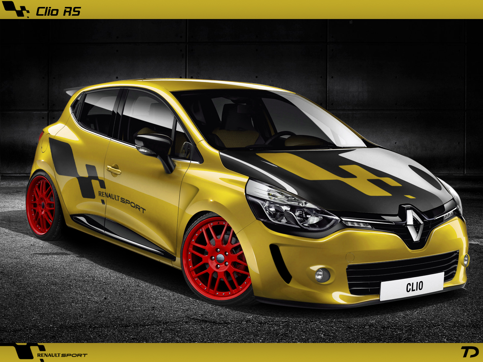 renault clio rs 2013 render by teofilodesign on deviantart. Black Bedroom Furniture Sets. Home Design Ideas